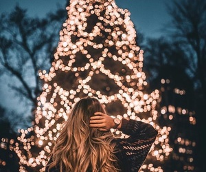 christmas, girl, and light image