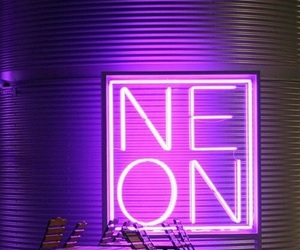 neon, purple, and tumblr image