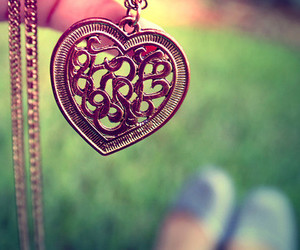 heart, necklace, and photography image