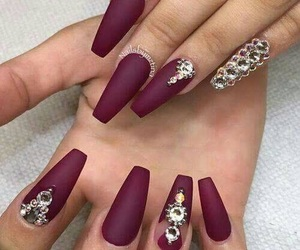 girl, nails, and love image