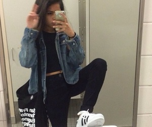 girl, grunge, and adidas image