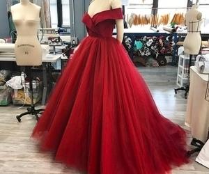 fashion, dress, and red dress image