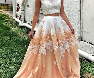 dress, evening dress, and lace dress image