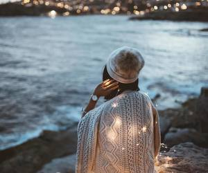 lights, photography, and sweater image