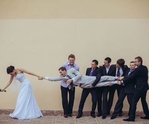 wedding, friends, and funny image
