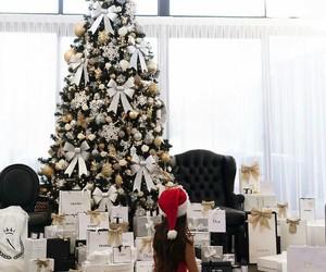 christmas, girl, and luxury image