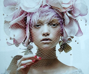 Gemma Ward, flowers, and pink image
