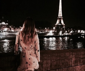 paris, dark, and eiffel tower image