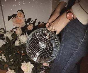 disco, disco ball, and lights image