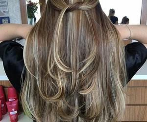 beauty, burnett, and hair image