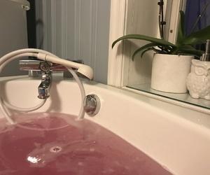 bathtub, pink, and favorite books image