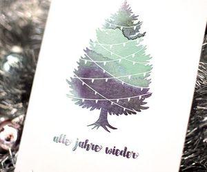 art, card, and christmas image