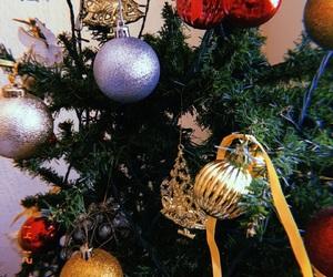 balls, red, and santa image