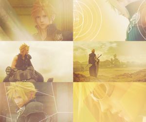 advent children, final fantasy VII, and cloud strife image