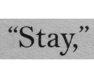 love, quotes, and stay image
