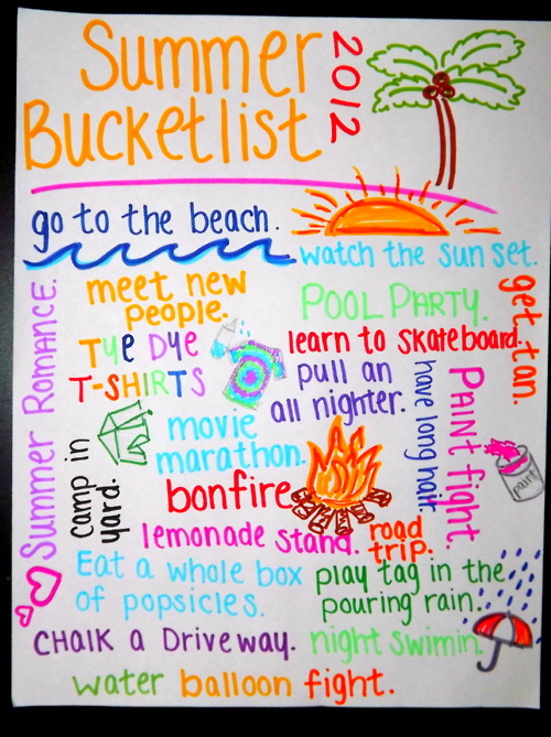 picture relating to Tumblr Bucket Lists called Impression in just summer months bucket checklist range by means of Kali
