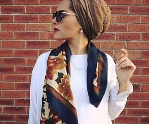 hijab, fashion, and turban image