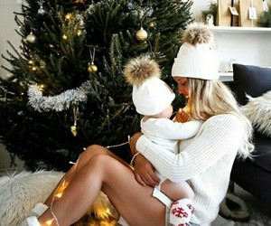 christmas, family, and baby image