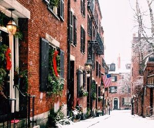 city, winter, and home image