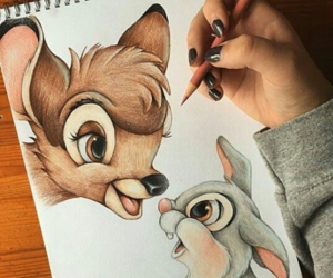 art, bambi, and drawing image