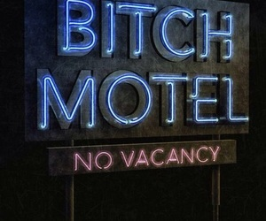 bitch, funny, and motel image