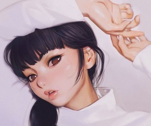 girl, nice, and illustration image