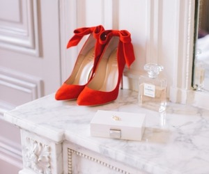 red, shoes, and chanel image