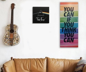 guitar, Pink Floyd, and room image
