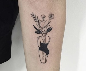 tattoo, flowers, and woman image