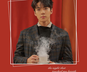 background, sehun, and coffee image