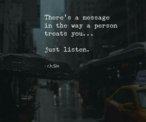 listen, quotes, and message image