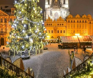 christmas, winter, and prague image