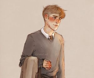remus lupin, harry potter, and hogwarts image