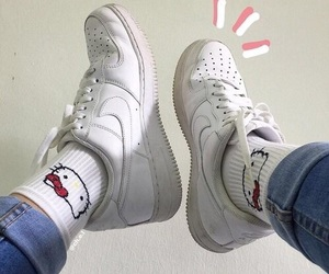 nike, hello kitty, and aesthetic image