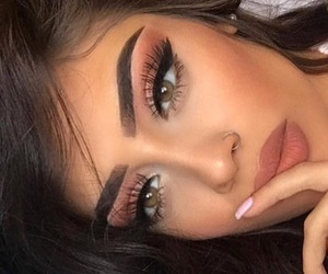fashion, makeup, and orange image