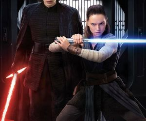 star wars, rey, and kylo ren image