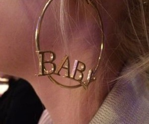 baby, earrings, and gold image