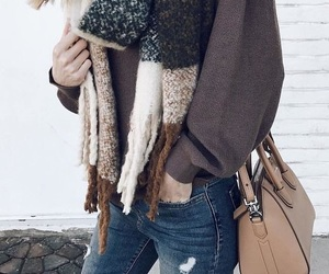 chic, christmas, and jeans image
