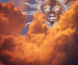 sun, clouds, and sky image