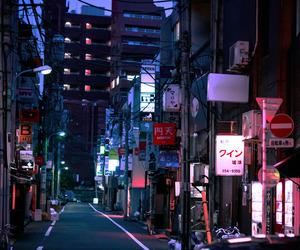 japan, night, and tokyo image
