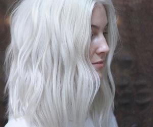 cool, hair, and white image