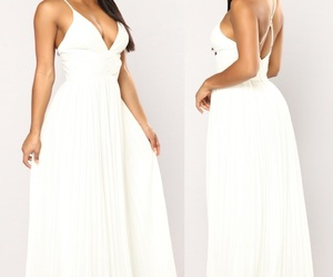 style, white dress, and girly style image
