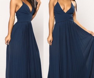 blue dress, style, and girly style image