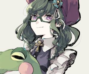 anime, frog, and girl image