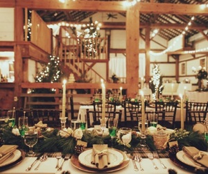 barn, dream wedding, and winter wedding image