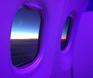 purple, airplane, and grunge image