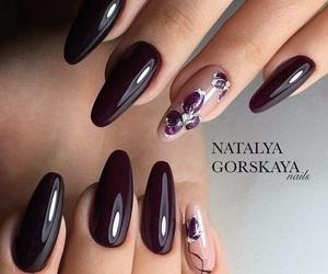 nail art, nails, and bordeaux image