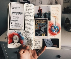 art, journal, and Marvel image