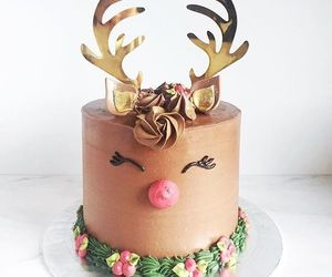 cake, christmas, and reindeer image