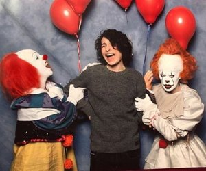 finn wolfhard, it, and clown image